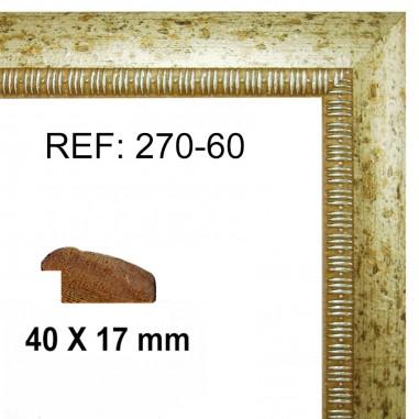 Moldura Plata 40 x 15 mm