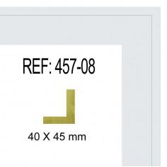 MOLDURA NOGAL Y FILO ORO DE 40 X 13 mm