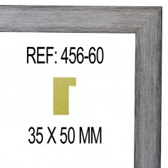 MOLDURA PLATA DE 45 X 25 mm