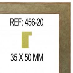 MOLDURA PLATA DE 40 X 15 mm