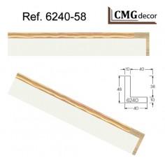 MOLDURA MDF PLATA DE 20 X 12 mm