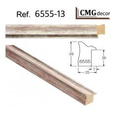 MOLDURA PLATA DE 25 X 25 mm