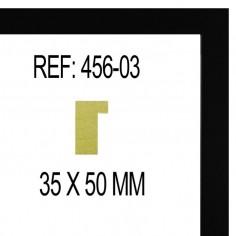 MOLDURA BLANCA Y PLATA DE CIRCULOS 85 X 25 mm
