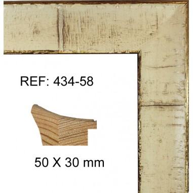 Moldura oro y blanca moderna 50x30 mm