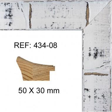 Moldura blanca moderna 50x30 mm ref: 434-08
