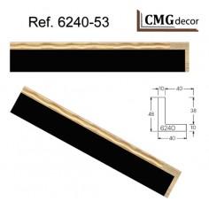 MOLDURA RUSTICA BLANCA DE 45 X 20 mm