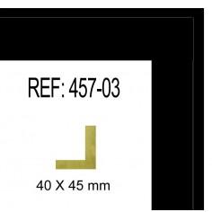 MOLDURA PLATA BRILLO PLANA DE 32 X 14 mm