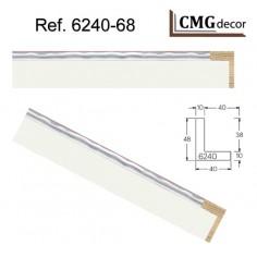 MOLDURA GRIS OSCURO DE 35 X 20 mm