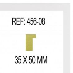 MOLDURA PLATA Y BLANCO DE 115 X 25 mm