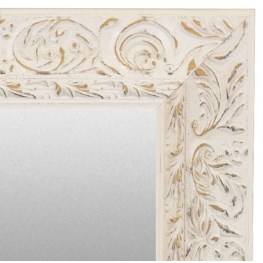Wall mirror with wood trim, model...
