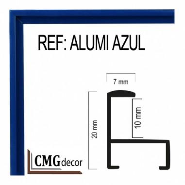 MOLDURA DE ALUMINIO DE 7 X 20 mm