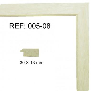 Moldura blanca 30x13 mm ref: 005-08